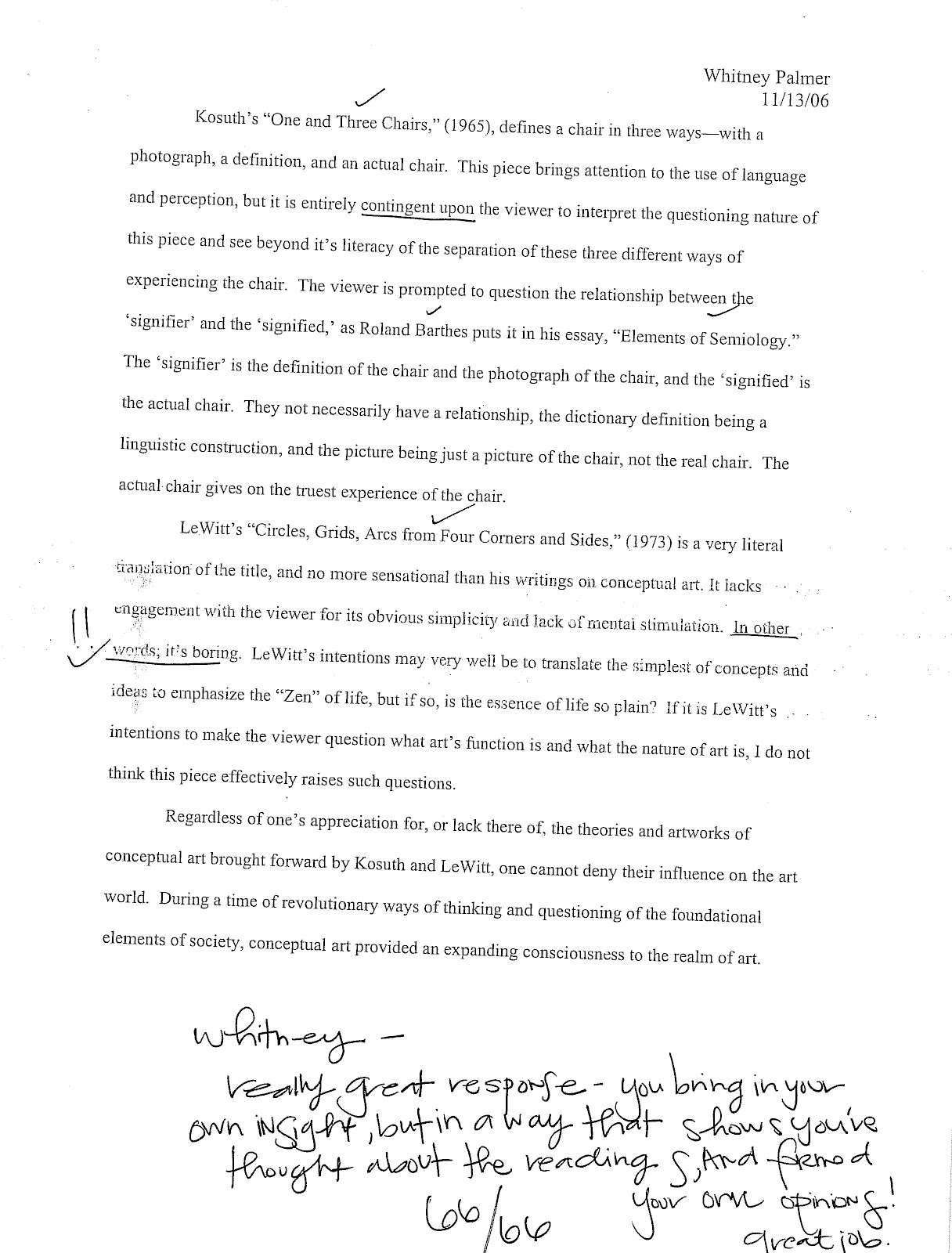essay from art history 354 fall 2006 contemporary art post 1945 essay from art history 354 fall 2006 contemporary art post 1945 wwii a comparative analysis on sol lewitt s paragraphs on conceptual art and sentences