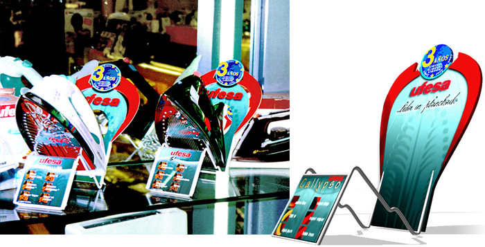 steam iron POS display Design by Somerset Harris