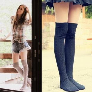 Valerie cable knit over the knee socks at Yesstyle