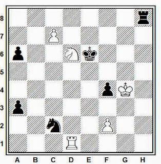 Posición de la partida de ajedrez Salov - Ehlvest (Skelleftea, 1989)