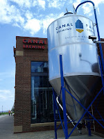 A brewing tank outside a brewery taproom in Duluth, Minnesota