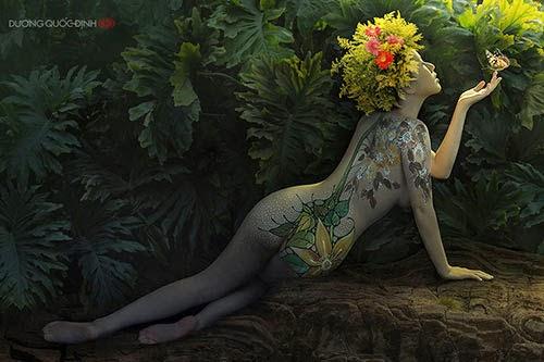 Mê mẩn với bộ ảnh body painting đầy quyến rũ