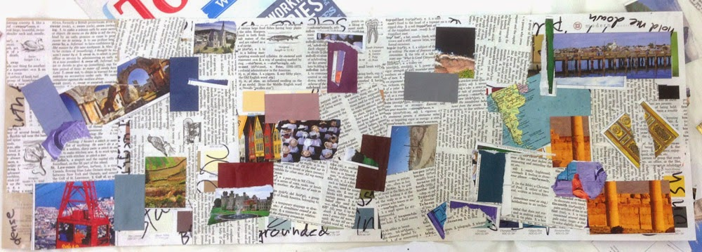 first layer of collage