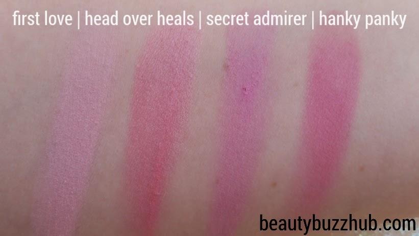 Makeup Geek Blush Swatches