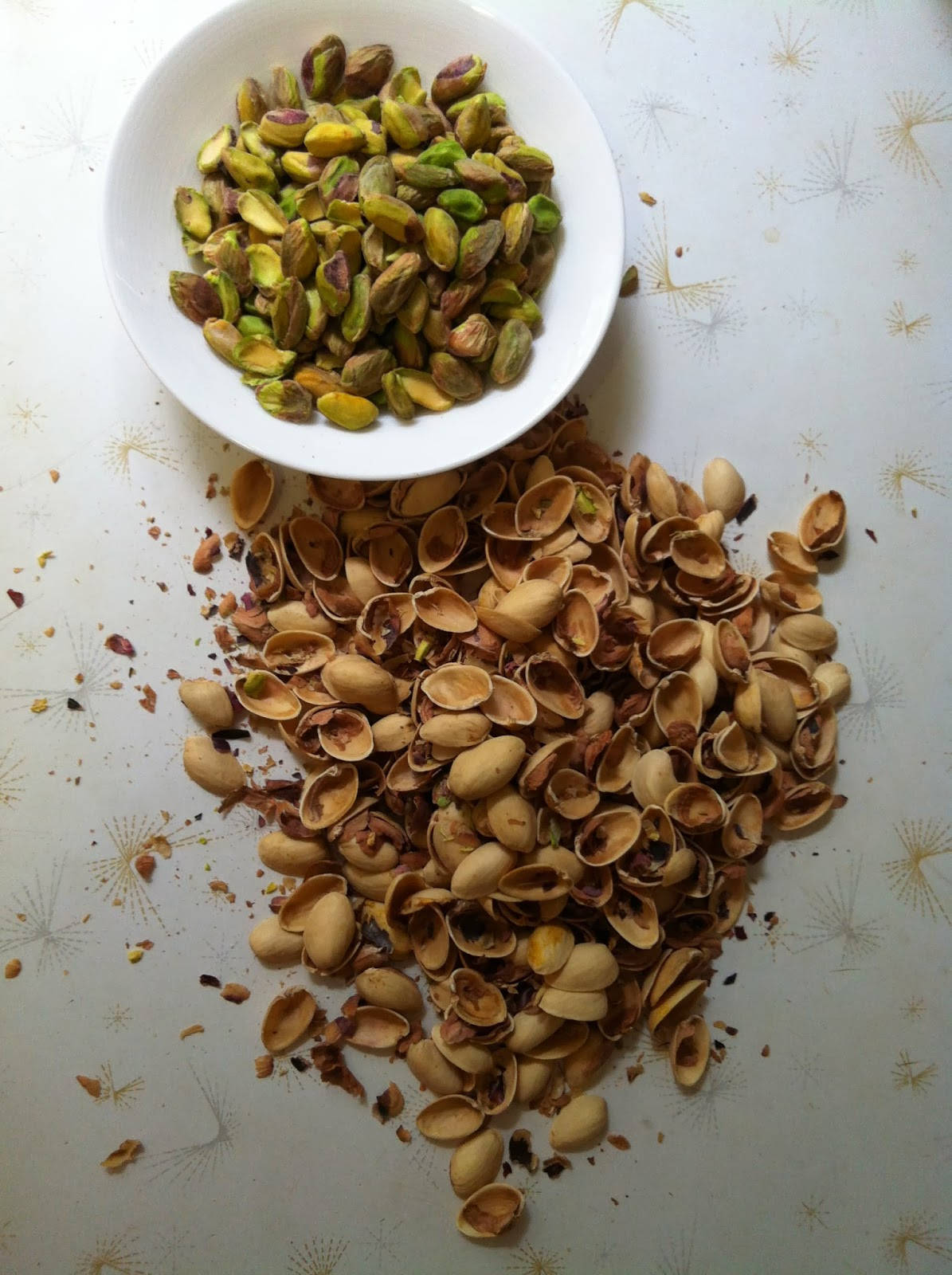 shelled pistachios @ Southern Spoon Blog