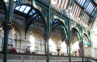 Cast iron vaulting in a market hall