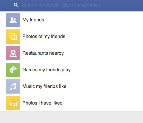 Facebook Search Bar