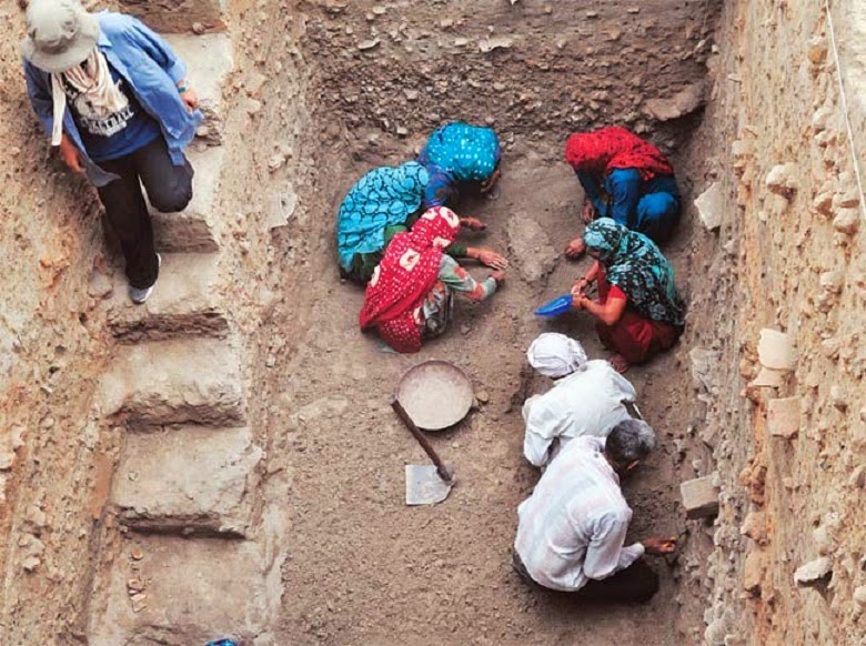 Excavations show Harappan site died as Saraswati river dried