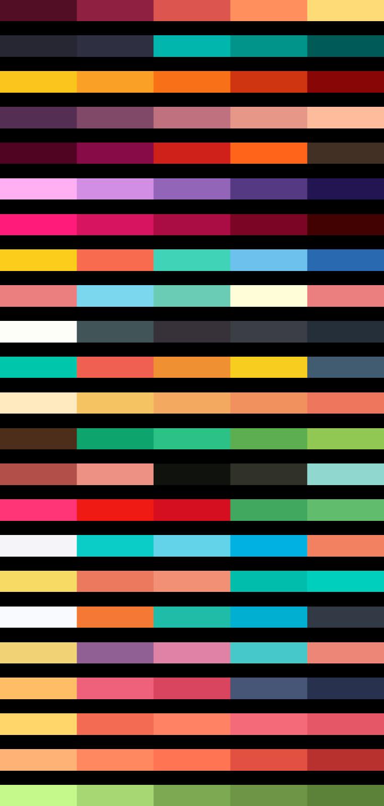 23 Skema Warna untuk flat design UI