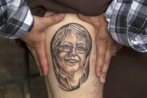 Tatuaje Michelle Bachelet