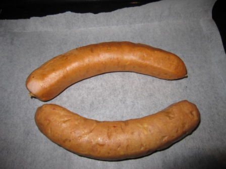 how to cook a cheese kransky in the oven