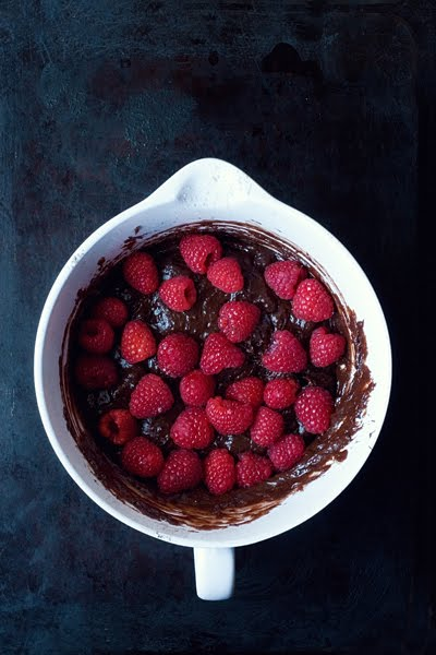 Fudgy Wudgy Raspberry Brownies Batter