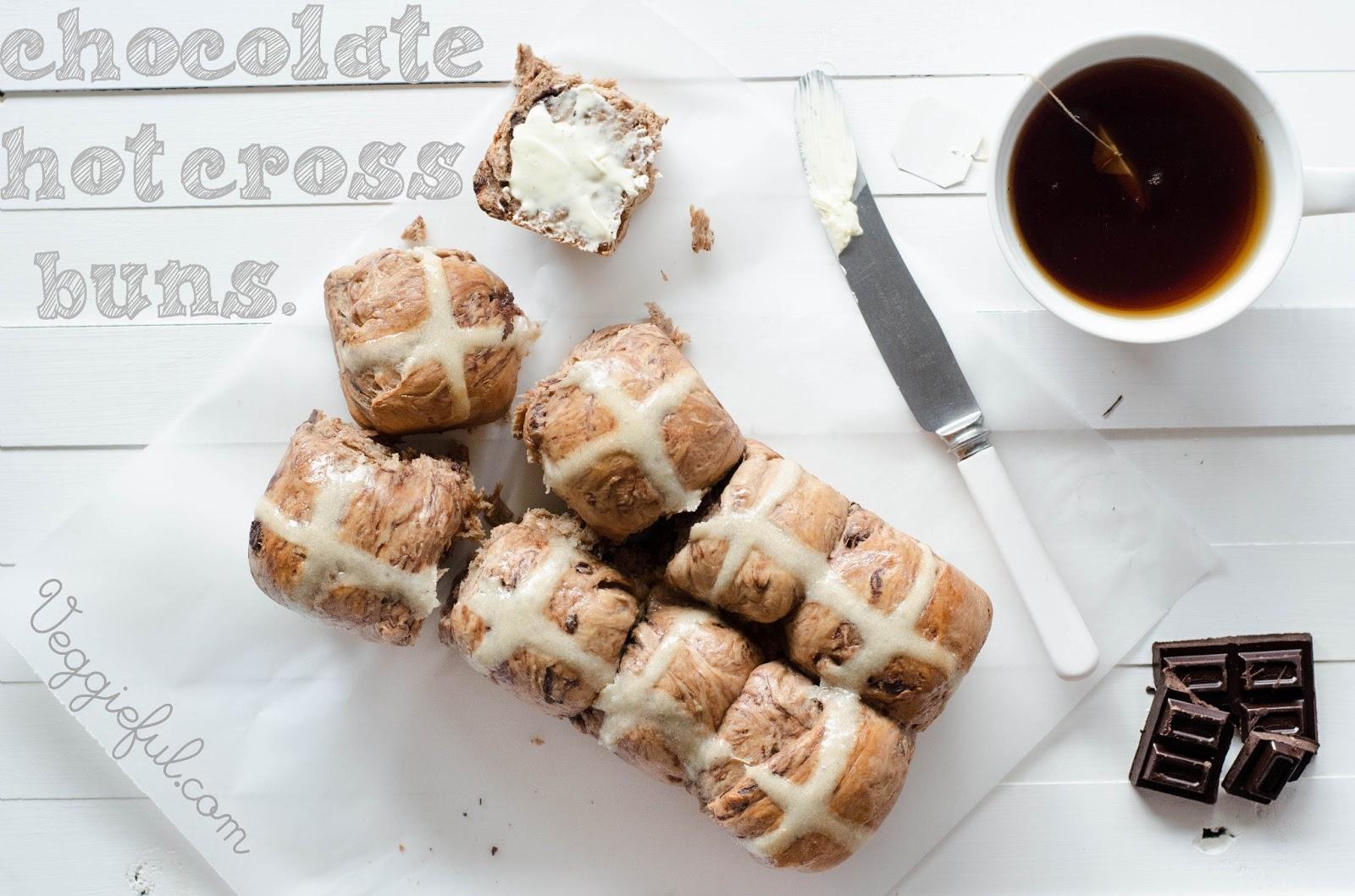 Vegan Easter Chocolate Hot Cross Buns