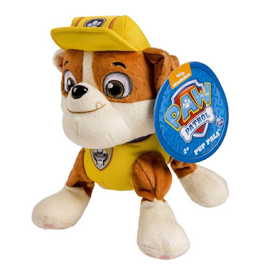TOYS : JUGUETES - PAW PATROL : La Patrulla Canina Rubble : Peluche 20 cm Producto Oficial Serie Television 2015 | Bizak | A partir de 2 años Comprar en Amazon España