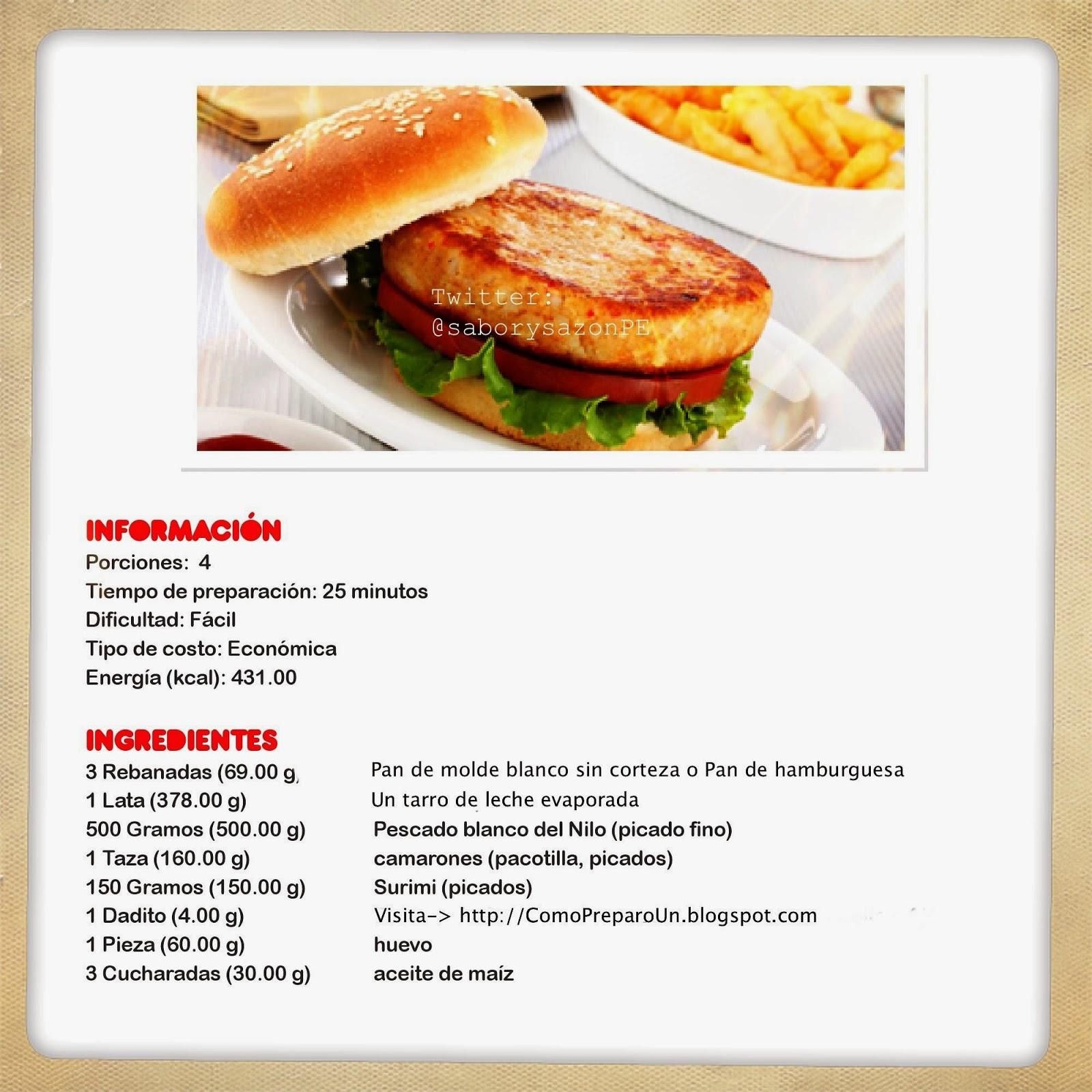 Loncheras nutritivas para ni os hamburguesas de pescado for Preparar comida
