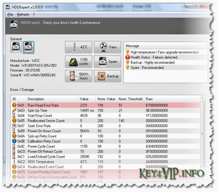 HDDExpert 1.10.1.14 Full,Phần mềm kiểm tra sức khỏe HDD
