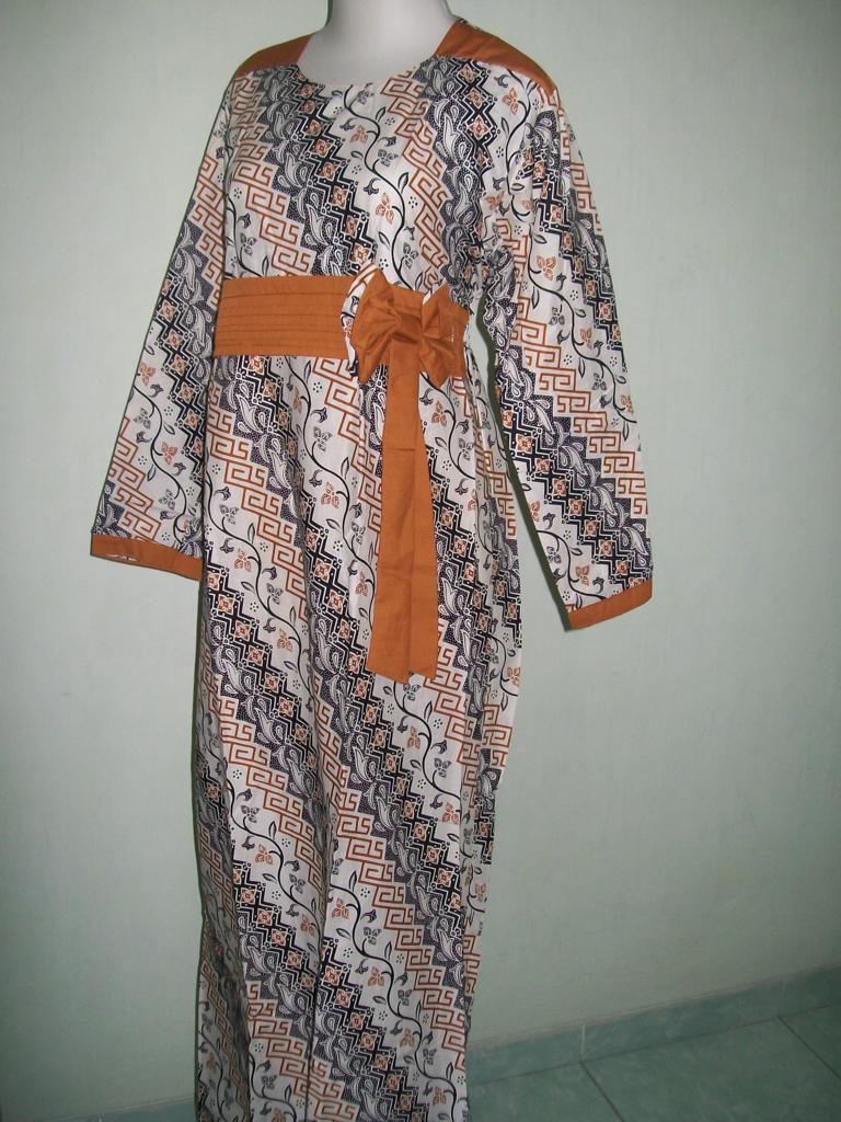 Gamis Batik Untuk Ibu Muda Dan Remaja Putri Cantik Bertali