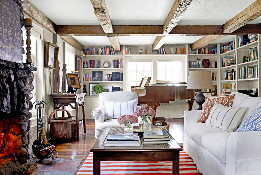 Vivir en el campo cerca de new york new york country for Elegant farmhouse living room