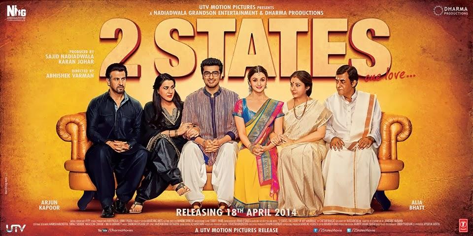 2 States Movie Poster - Alia Bhatt | Arjun Kapoor