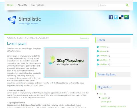 Simplistic Blogger Theme