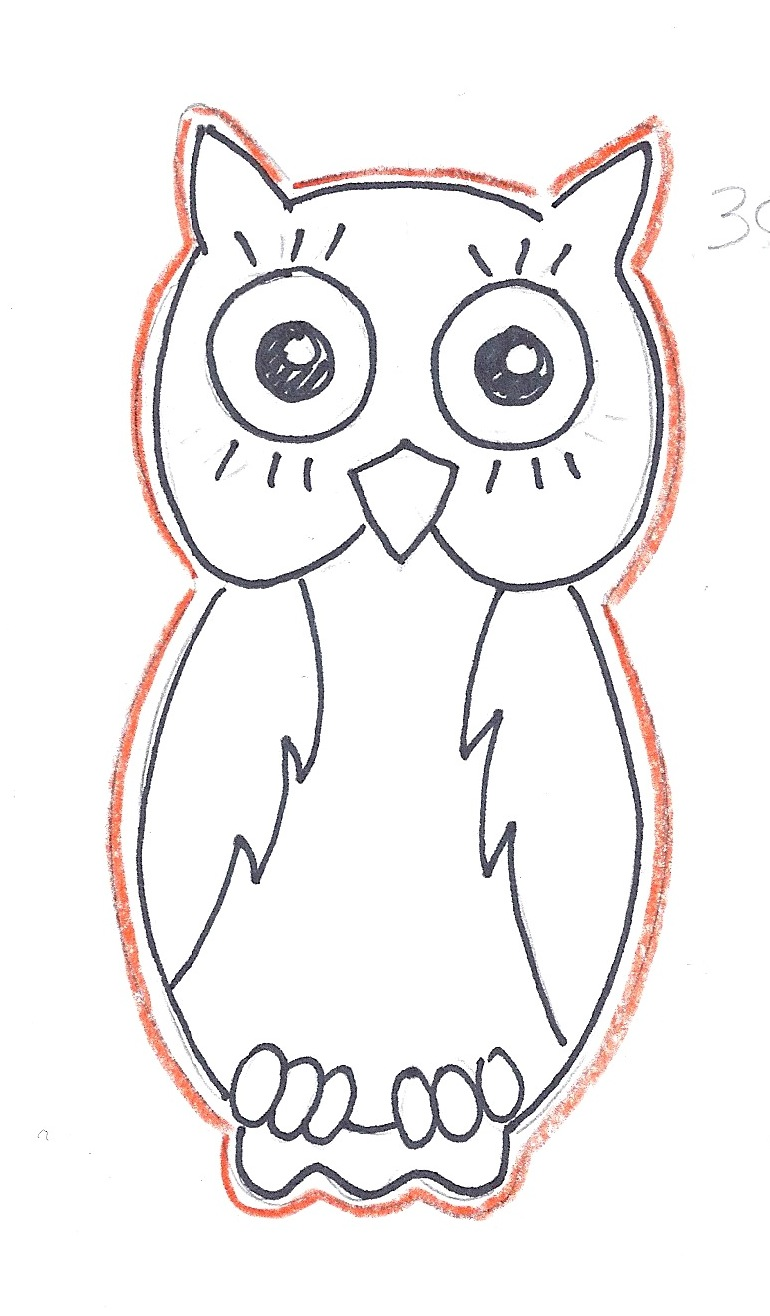 owl outline template