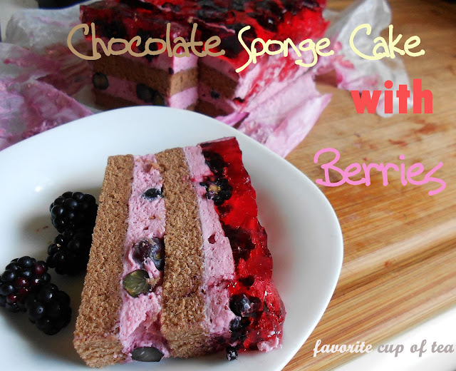 My cup of tea chocolate sponge cake with berries and for Chocolate sponge ingredients