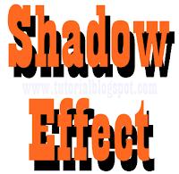 Efek Bayangan Pada Teks,efek bayang,shadoe effect,effect,shadow,bayang,