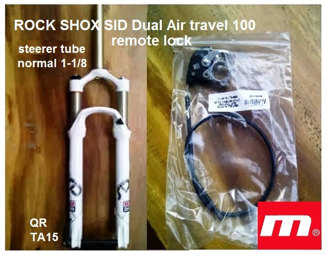 fork rock shox sid dual air remote lock