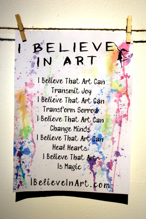 The I Believe In Art Manifesto By Victoria Lynn Hall