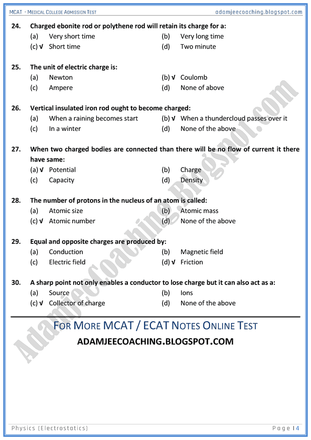 mcat-physics-electrostatics-mcqs-for-medical-entry-test