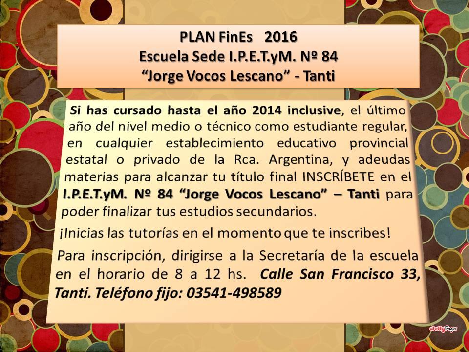 PLAN FinEs 2016
