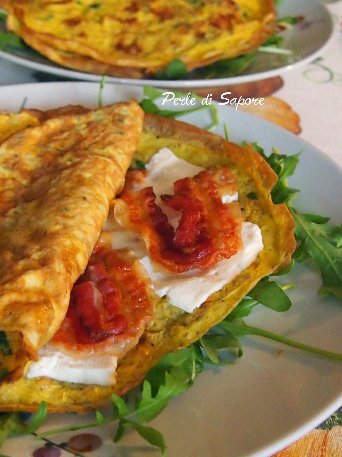 crispy omelette al bacon