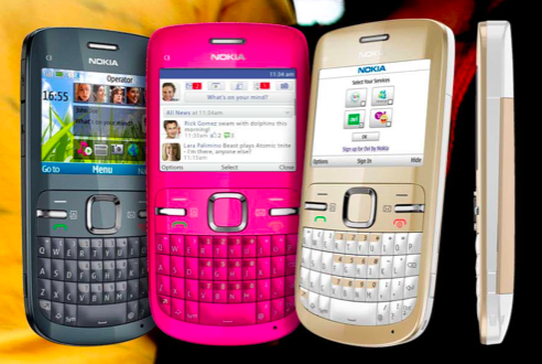 nokia c3 gold and white. Nokia C3 - Social Media in my