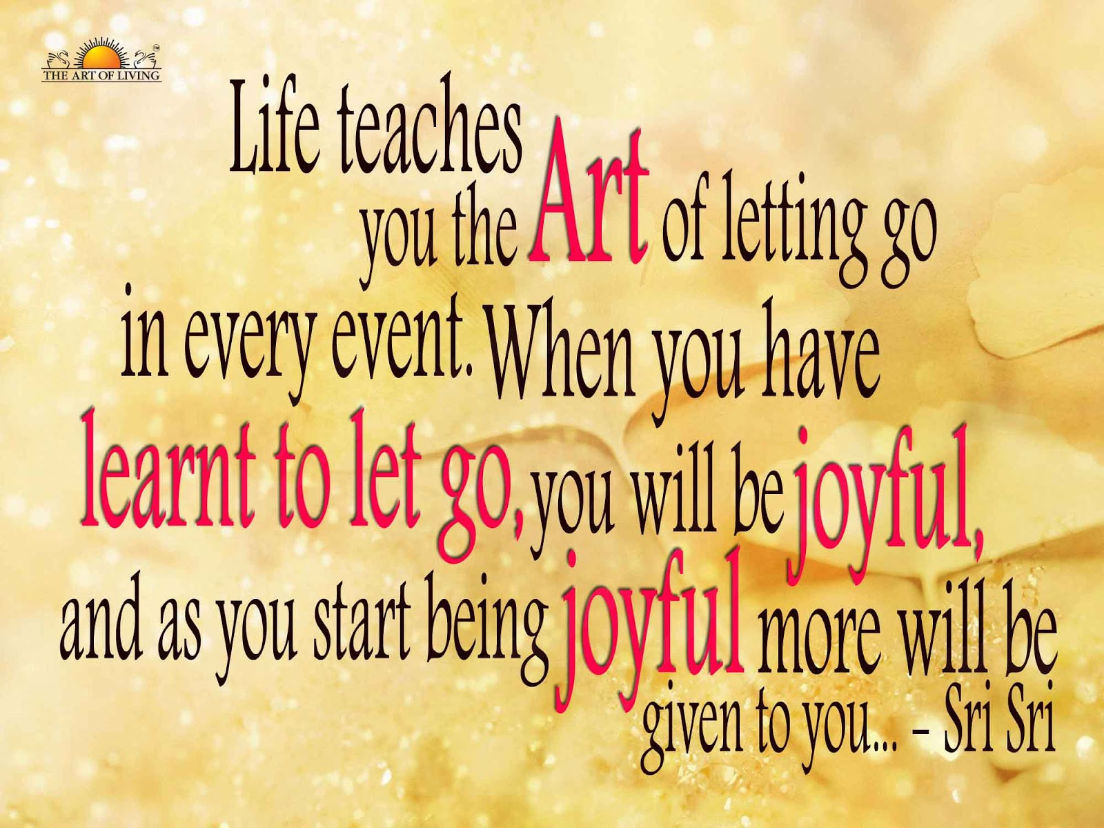 Quotes About Moving On In Life Quotessri Sri Ravi Shankar Quotes On Letting Go & Moving About