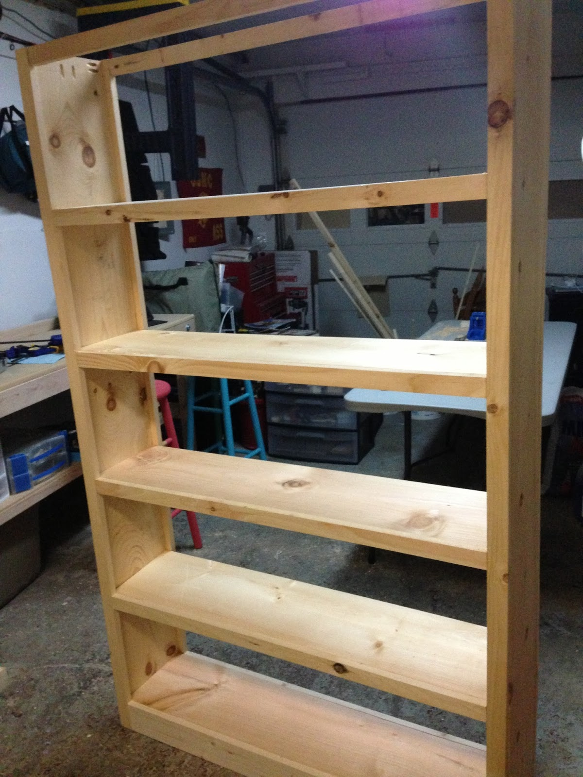 Wood n things 6 foot tall book case for Build your own bookshelves plans