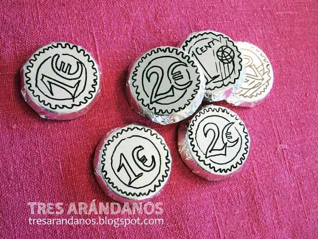 como hacer monedas de chocolate en casa