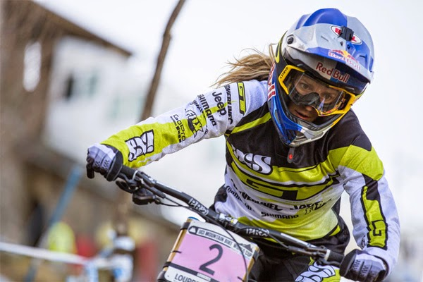 2015 Lourdes UCI World Cup Downhill: Race Highlights Rachael Atherton