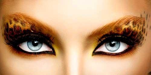 maquillaje ojos halloween animal print