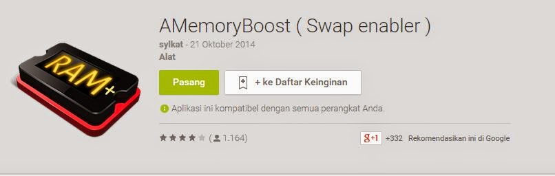 Aplikasi Android Penambah RAM