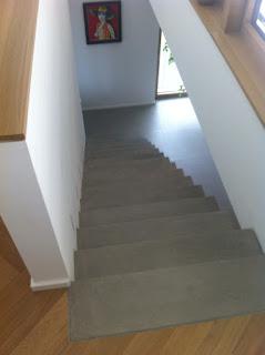 Sichtbetontreppe, Beton Cire Treppe