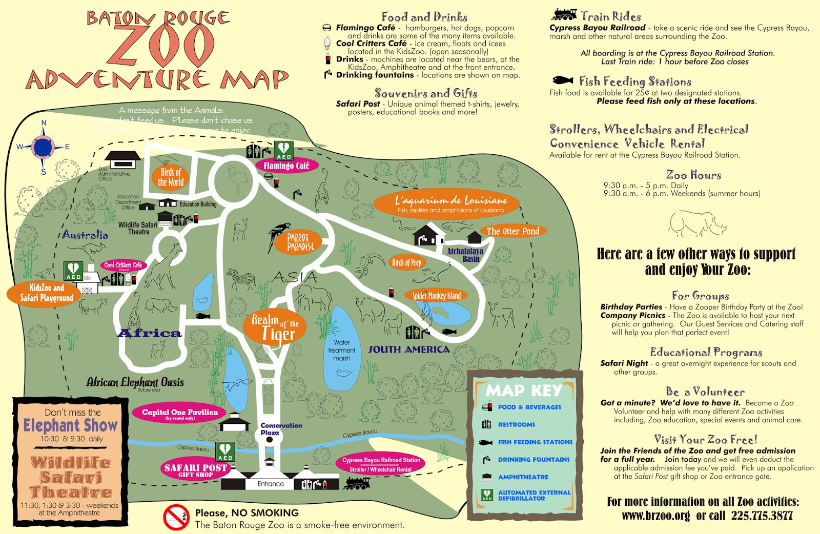 Zoo Map Template Map of Baton Rouge Zoo