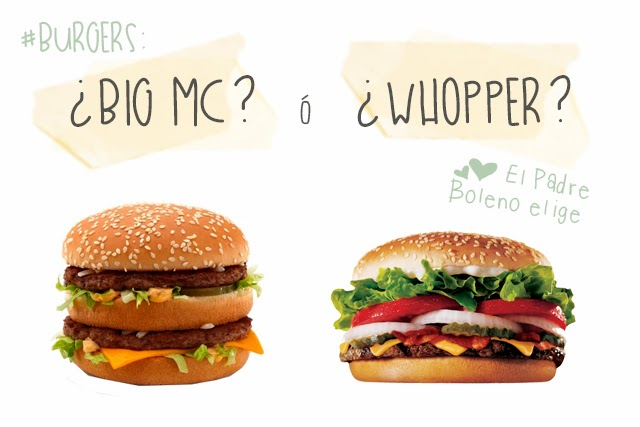 big mac vs whopper burger king mcdonalds