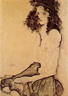 Egon Schiele - Girl in black, 1911