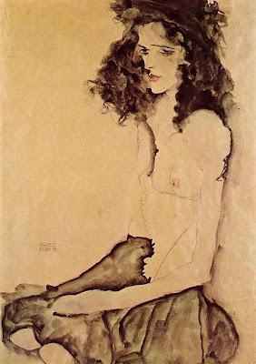 Egon Schiele - Girl in black, 1911
