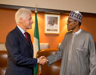 Buhari and Bill Clinton