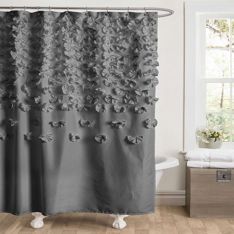 whimsy girl: Pretty Things {Ruffle Shower Curtains}