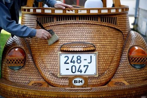 سيارة فولكس فاجن الخشب!