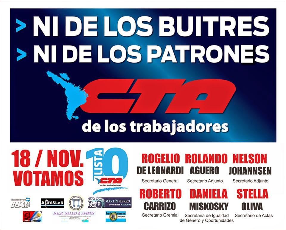Elecciones CTA 18/11