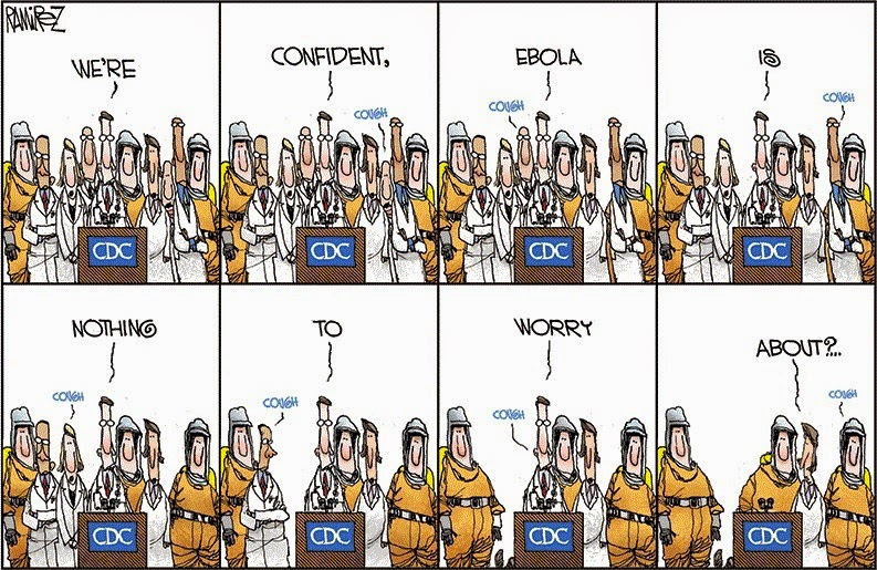 Michael Ramirez: Ebola at the CDC.