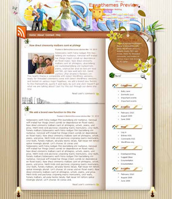 Happiness blogger template. converted WordPress to Blogger template. template love for blog